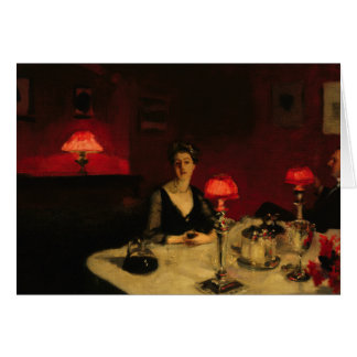 John Singer Sargent - A Dinner Table at Night Card