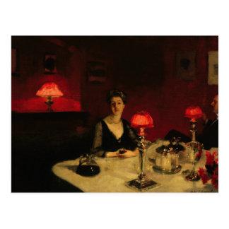 John Singer Sargent - A Dinner Table at Night Postcard