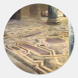 John Singer Sargent- A Mosque, Cairo Round Stickers