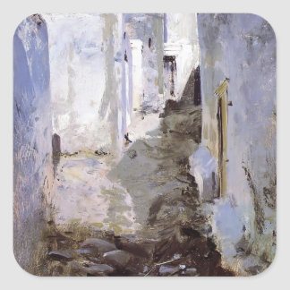 John Singer Sargent- A Street in Algiers Stickers