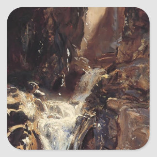 John Singer Sargent- A Waterfall Square Sticker