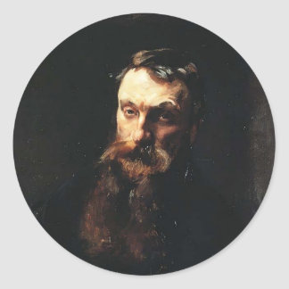 John Singer Sargent- Auguste Rodin Round Sticker