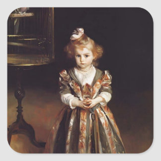 John Singer Sargent- Beatriice Goelet Square Sticker