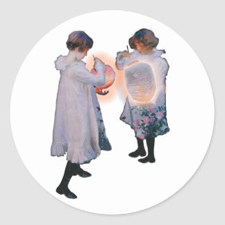 JOHN SINGER SARGENT CARNATION, LILY, LILY, ROSE CLASSIC ROUND STICKER