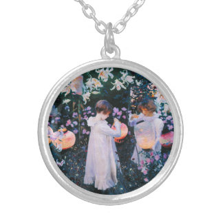 John Singer Sargent Carnation Lily Lily Rose Personalized Necklace