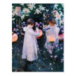 John Singer Sargent Carnation Lily Lily Rose Postcard