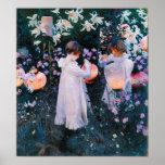 John Singer Sargent Carnation Lily Lily Rose Poster