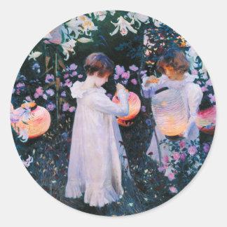 John Singer Sargent Carnation Lily Lily Rose Round Sticker