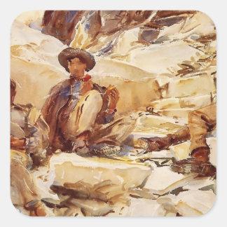 John Singer Sargent: Carrara Workmen Square Sticker