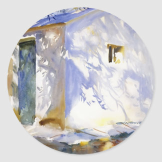 John Singer Sargent- Corfu: Lights and Shadows Round Stickers