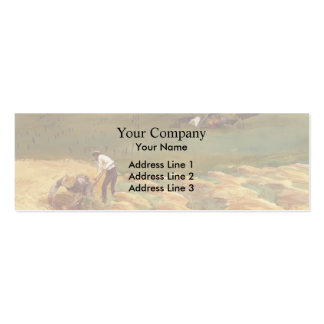 John Singer Sargent: Crashed Aeroplane Double-Sided Mini Business Cards (Pack Of 20)