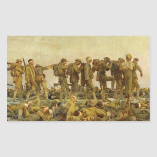 John Singer Sargent - Gassed Rectangular Sticker