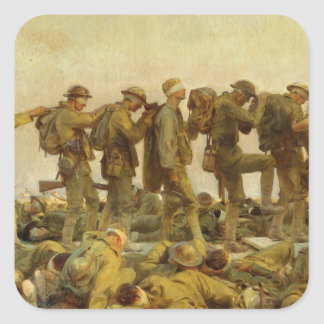 John Singer Sargent - Gassed Square Sticker