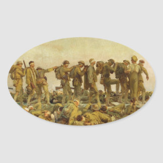 John Singer Sargent - Gassed Oval Stickers