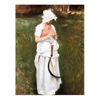 John Singer Sargent- Girl with a Sickle Postcard