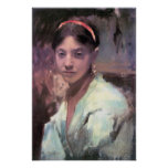 John Singer Sargent - Head of a Capri Girl Poster