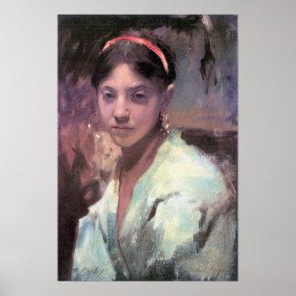 John Singer Sargent - Head of a Capri Girl Poster