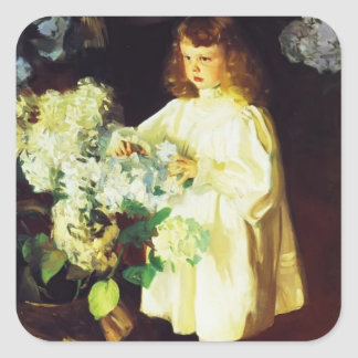 John Singer Sargent- Helen Sears Square Sticker