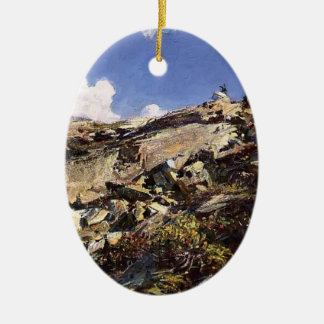 John Singer Sargent- In the Alps Christmas Tree Ornaments