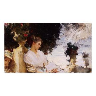John Singer Sargent- In the Garden, Corfu Business Cards