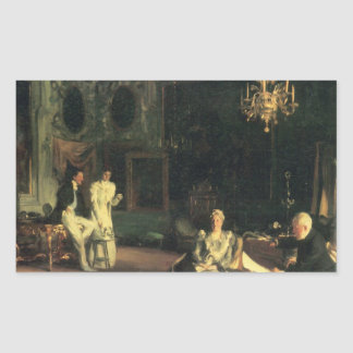 John Singer Sargent - Interior in Venice Rectangular Sticker
