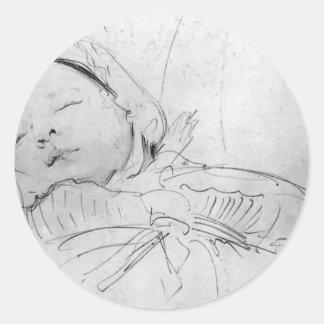 John Singer Sargent: Jack Millet as a Baby Round Sticker