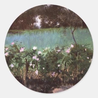 John Singer Sargent- Landscape with Rose Trellis Sticker