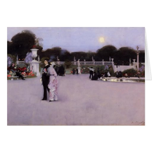 John Singer Sargent-Luxembourg Gardens at Twilight Greeting Cards