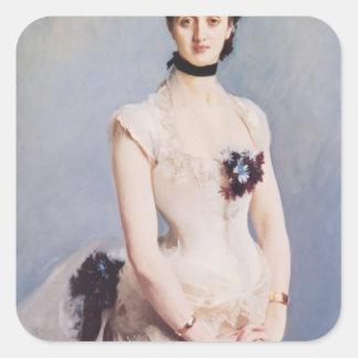 John Singer Sargent- Madame Paul Poirson Square Stickers