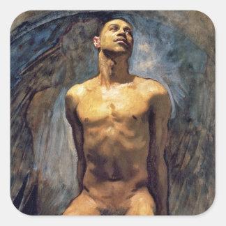 John Singer Sargent - Male Study Square Sticker