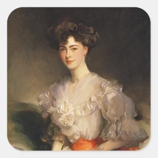 John Singer Sargent- Maud Coats Square Sticker