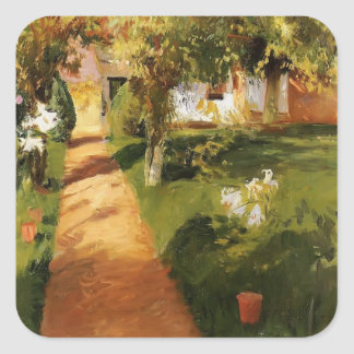 John Singer Sargent- Millet's Garden Square Sticker