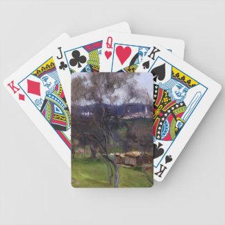 John Singer Sargent- Olive Trees Corfu Bicycle Playing Cards