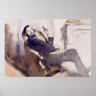 John Singer Sargent -Portrait of Paul-Cesar Helleu Poster