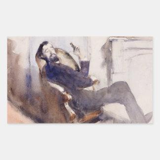 John Singer Sargent -Portrait of Paul-Cesar Helleu Rectangular Sticker