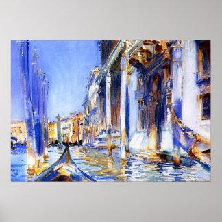 John Singer Sargent Rio dell'Angelo Venice Poster