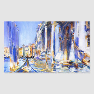 John Singer Sargent Rio dell'Angelo Venice Rectangular Sticker