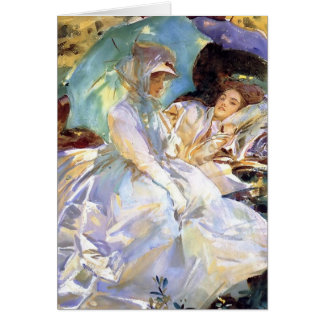 John Singer Sargent- Simplon Pass. Reading Card