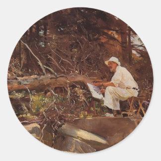 John Singer Sargent- The Artist Sketching Sticker