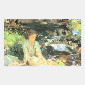 John Singer Sargent - The black creek Rectangular Sticker