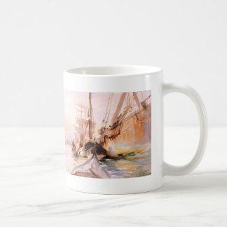 John Singer Sargent- Unloading Boats in Venice Mugs