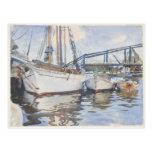 John Singer Sargent Watercolor - Seascape Postcard