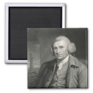 John Smeaton  from 'Gallery of Portraits' Square Magnet