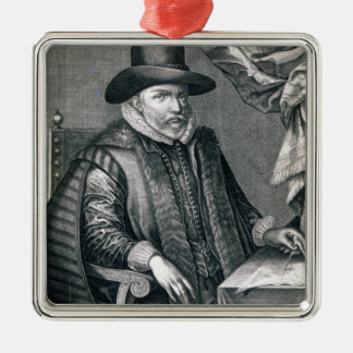 John Speed, published by George Humble, 1632 Silver-Colored Square Decoration