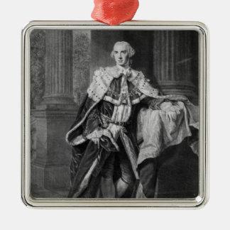 John Stuart, 3rd Earl of Bute, 1763 Silver-Colored Square Decoration