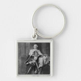 John Stuart, 3rd Earl of Bute, 1763 Silver-Colored Square Key Ring