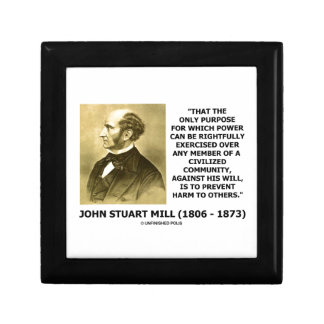 John Stuart Mill Prevent Harm To Others Quote Keepsake Box