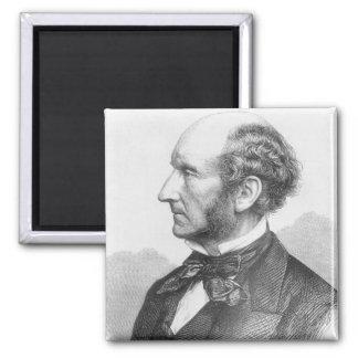 John Stuart Mill Square Magnet