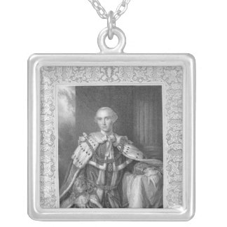 John Stuart, Third Earl of Bute, engraved Silver Plated Necklace