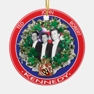 John Ted Robert Kennedy in tuxedos Round Ceramic Decoration